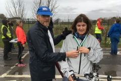 WSPH C25K runner completes course and recieves medal