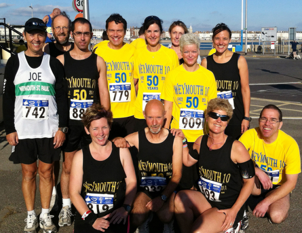 WSPH Roadrunners at the Weymouth10 in 2011